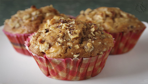 Творожные кексы с орехами