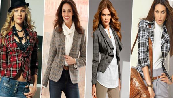 Еще одна модная тенденция этого сезона - клетчатый пиджак